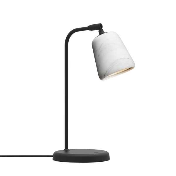 Billede af NEW WORKS Material Bordlampe Hvid Marmor