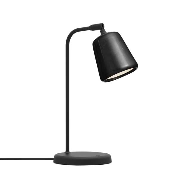 Image of NEW WORKS Material Bordlampe Sort Marmor