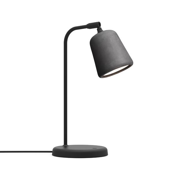 Image of NEW WORKS Material Bordlampe Mørkegrå Beton