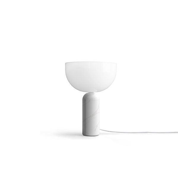 NEW WORKS Kizu Bordlampe Hvid Marmor Lille