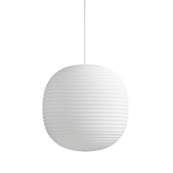 NEW WORKS Lanterne Pendel i Matteret Hvid Opal Glas Stor