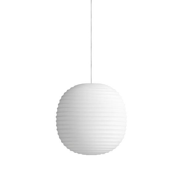 NEW WORKS Lanterne Pendel i Matteret Hvid Opal Glas Lille