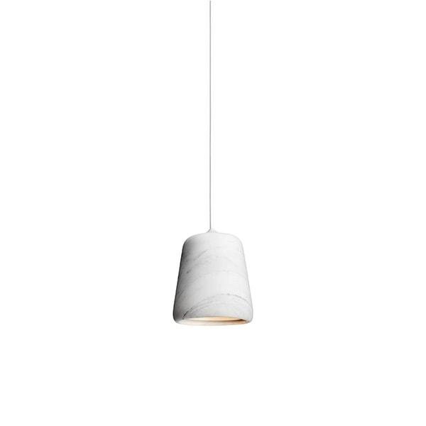 NEW WORKS Material Pendel Hvid Marmor