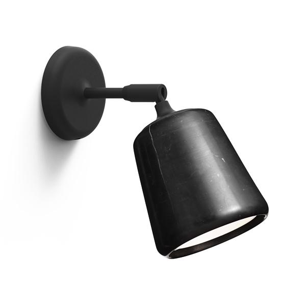 Image of NEW WORKS Material Væglampe Sort Marmor