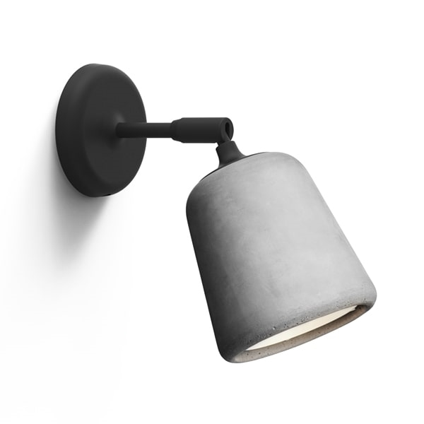 Image of NEW WORKS Material Væglampe Lysegrå Beton