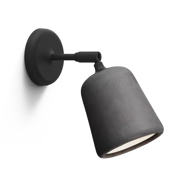 Image of NEW WORKS Material Væglampe Mørkegrå Beton