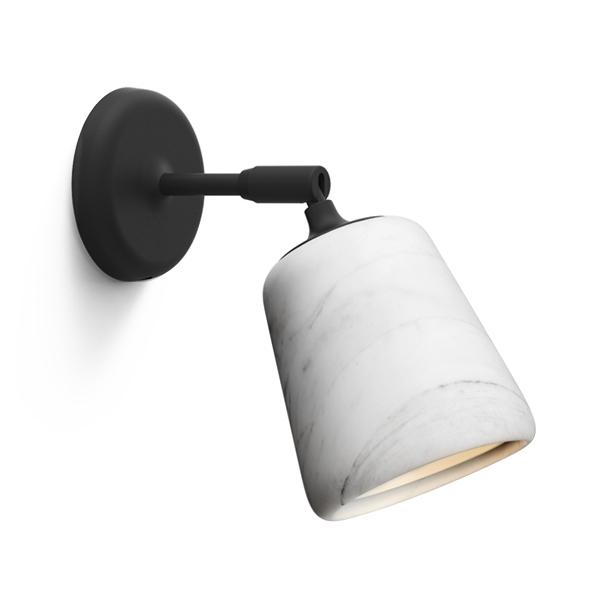 Image of NEW WORKS Material Væglampe Hvid Marmor