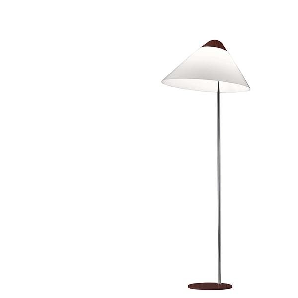 Pandul Opala MIDI Gulvlampe Rød top, Rød Fod