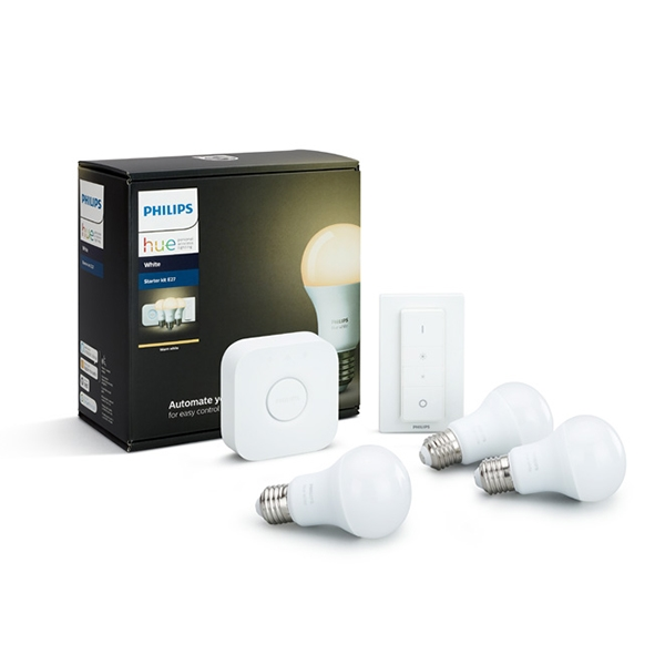 Image of Philips Hue White 9,5W E27 Startpakke 3pak