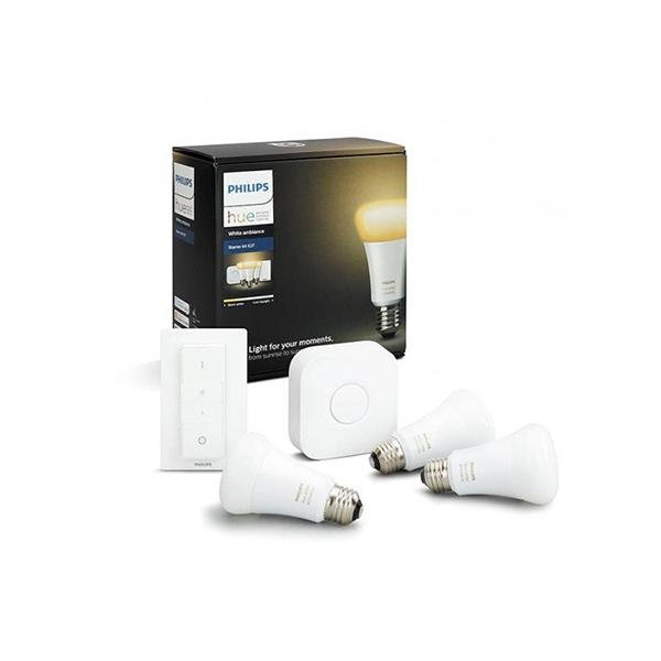 Image of Philips Hue White Ambiance 9W E27 Startpakke