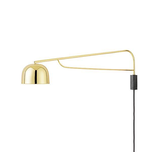 Normann Copenhagen Grant Væglampe Stor Messing
