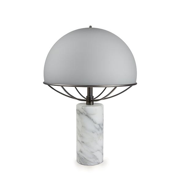TATO Jil Bordlampe Grå/Sort Krom & Hvid Marmor fra TATO