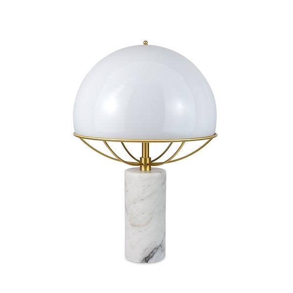 TATO Jil Bordlampe Hvid/Messing & Hvid Marmor