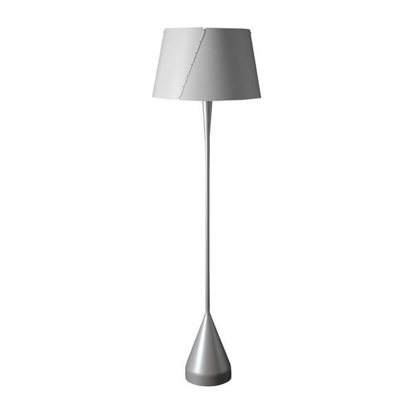 TATO De-Lux A4 Gulvlampe Sølv & Mat Hvid fra TATO