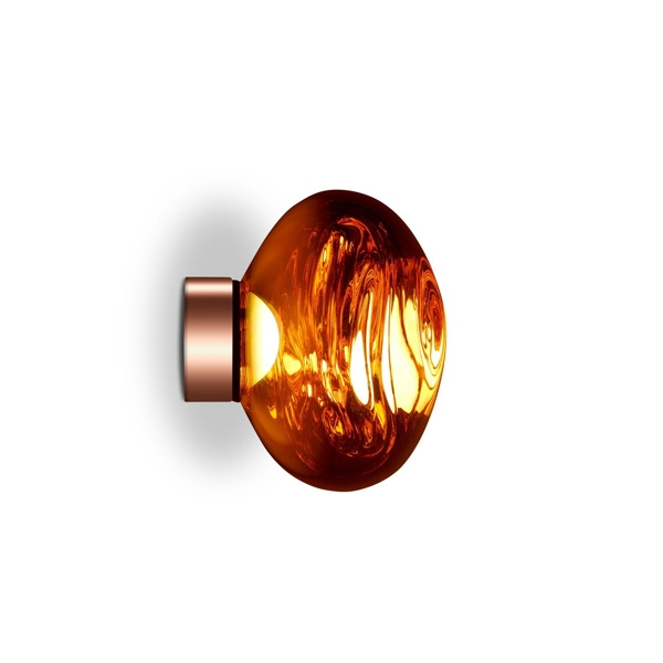 Image of Tom Dixon Melt Surface Væg/Loftlampe LED Kobber Lille