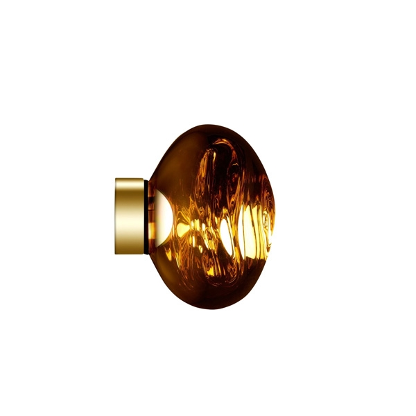 Image of Tom Dixon Melt Surface Væg/Loftlampe LED Guld Lille