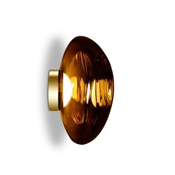 Tom Dixon Melt Surface Væg/Loftlampe LED Guld Stor fra Tom Dixon