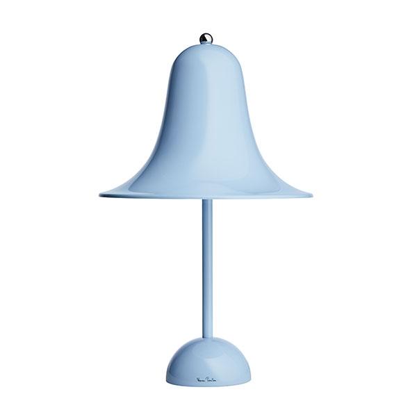 Verner Panton Pantop Bordlampe Lys Blå Ø23 cm