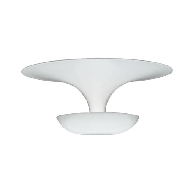 Vibia Mini Funnel Væg/Loftlampe Blank Hvid