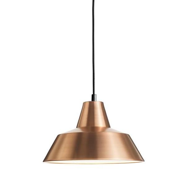 Made By Hand Værkstedslampe Pendel Kobber/Hvid W2