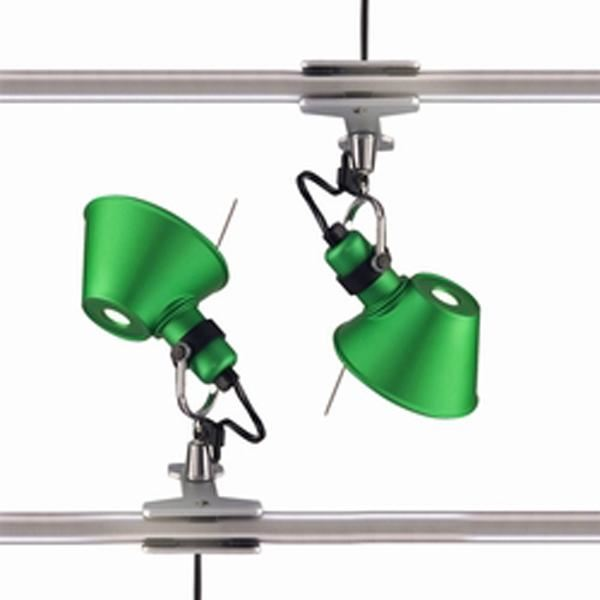 Artemide Tolomeo Micro Pinza Væglampe klemme Grøn