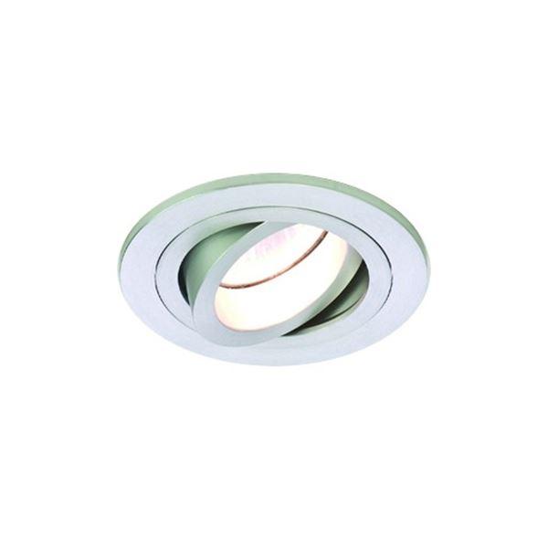 Image of   Astro Taro Round Adjustable Spot Børstet Aluminium