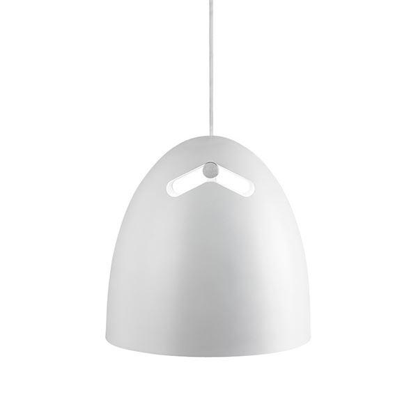 Darø Bell+ Pendel Eg-Hvid Stor