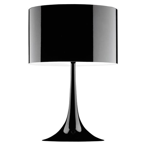 Flos Spun Light T2 Bordlampe Sort fra Flos