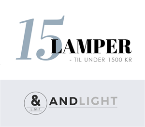 15 lamper under 1500 kr design pendel bordlampe