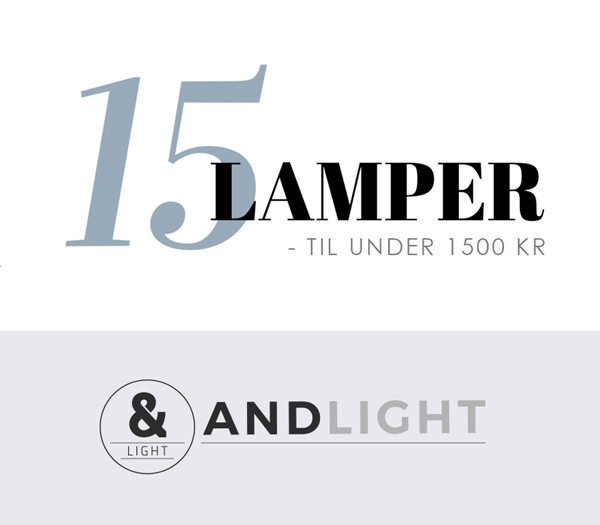 Image of   15 lamper under 1500 kr