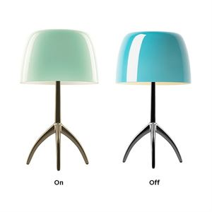 Foscarini Lumiere Bordlampe Turkis On/Off