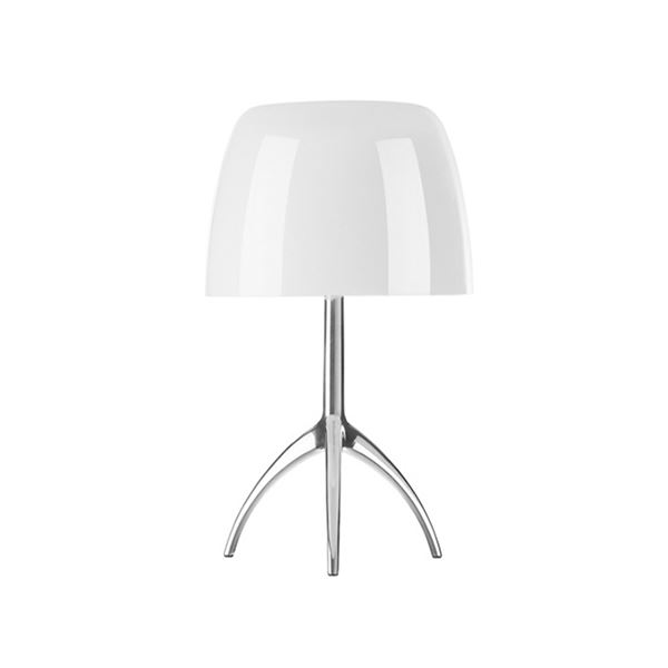 Foscarini Lumiere Bordlampe Piccola Hvid Aluminium m. Lysdæmper