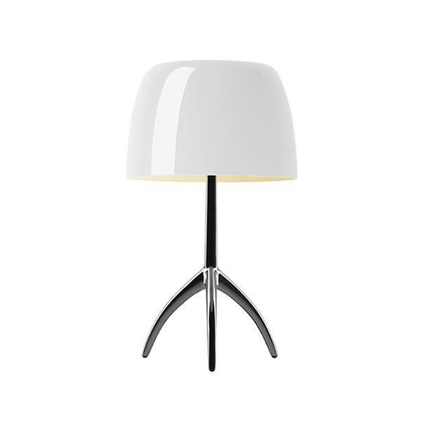 Billede af Foscarini Lumiere Bordlampe Piccola Varm Hvid Aluminium