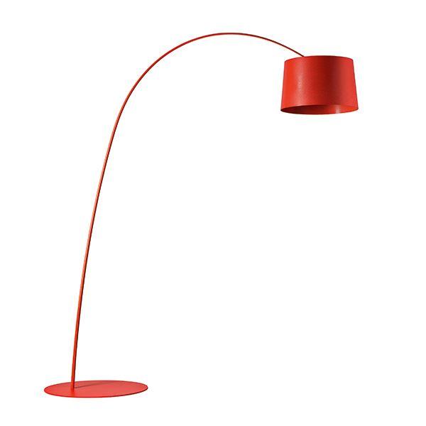 Foscarini Twiggy Gulvlampe LED Mørkerød fra Foscarini