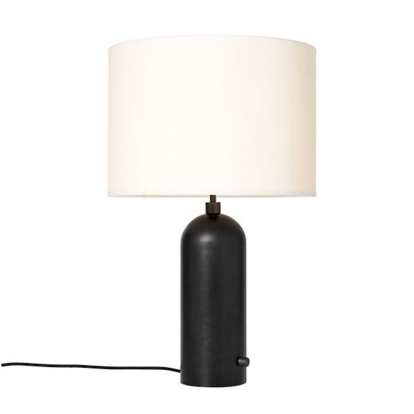 Billede af GUBI Gravity Bordlampe Mørknet Stål og Hvid Skærm Stor