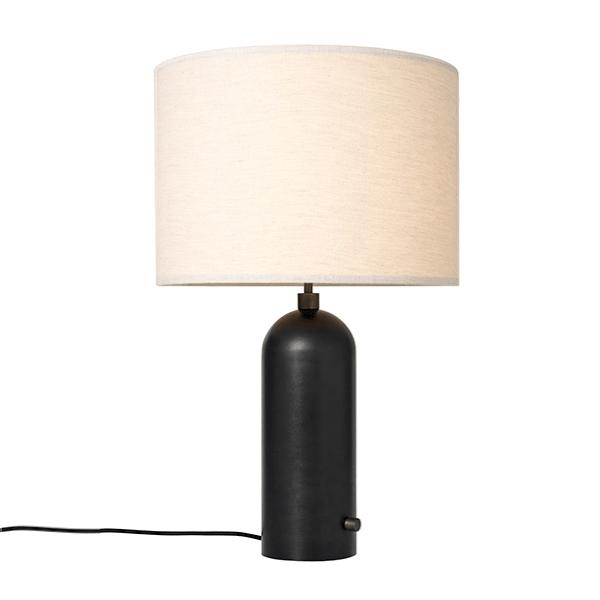 Billede af GUBI Gravity Bordlampe Mørknet Stål og Lærred Skærm Stor