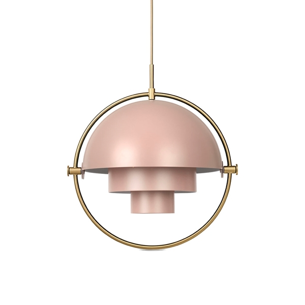 GUBI Multi-Lite Pendel Rose & Messing