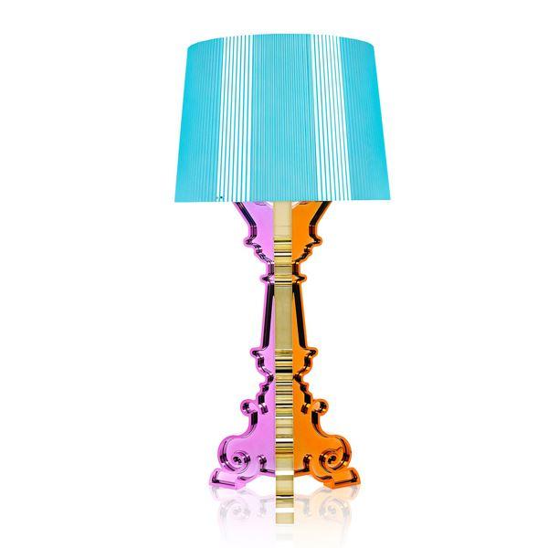 Billede af Kartell Bourgie Bordlampe Flerfarvede Lyseblå