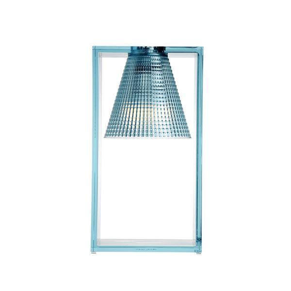 Kartell Light-Air Bordlampe Sculpted Lyseblå
