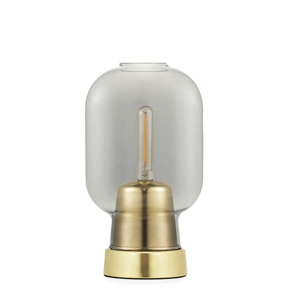 Normann Copenhagen Amp Bordlampe Røgfarvet/Messing