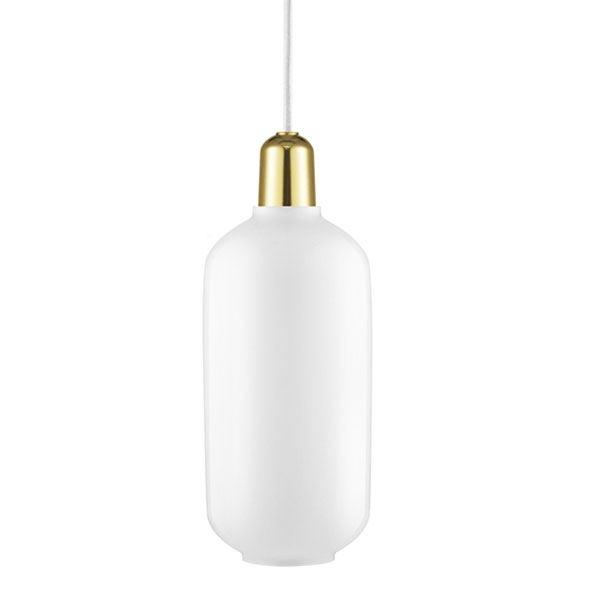 Normann Copenhagen Amp Pendel Stor Hvid/Messing