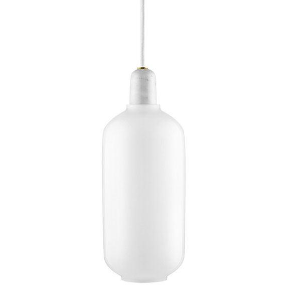 Normann Copenhagen Amp Pendel Stor Hvid/Hvid