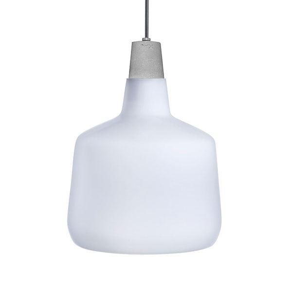 Nude Mono Pendel Hvidt Glas Mellem