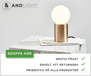 Shoppa designlampor online till riktigt bra priser, alltid med fri frakt.