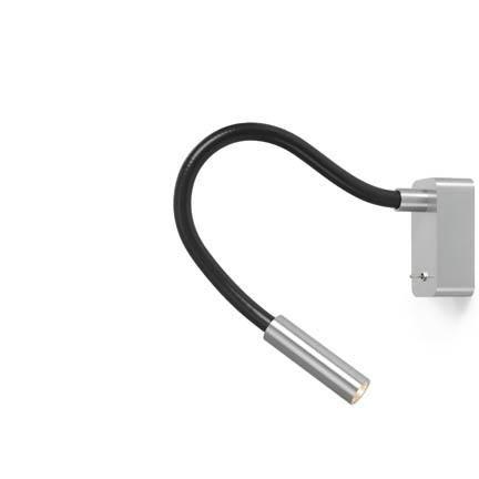 Trizo 21 SCAR-LED 1FDS Væglampe Aluminum & Sort Med 25 Graders Lysspredelse