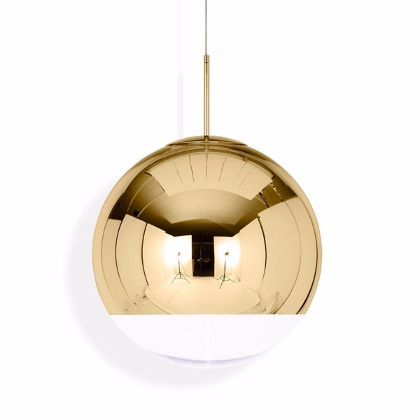 Tom Dixon Mirror Ball Guld Pendel Stor