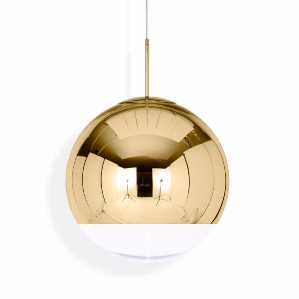 Tom Dixon Mirror Ball Guld Pendel Stor