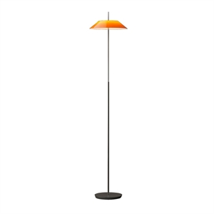 Vibia Mayfair Gulvlampe Blank Orange og Sort