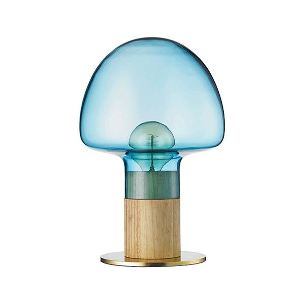 WATT A LAMP Mush Bordlampe Blå/Transparent