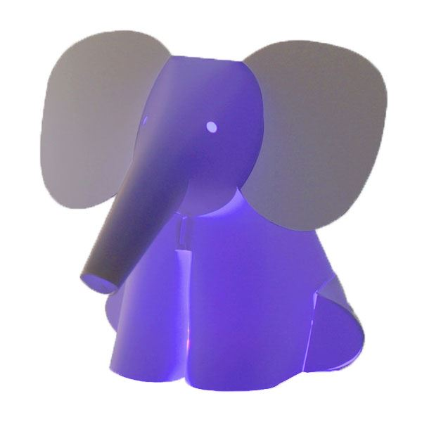 Zoolight Mini Elefant Børne Bordlampe